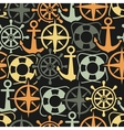 Marine seamless pattern vector image vector image