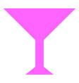 martini cup icon vector image