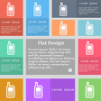 Mobile phone icon sign Set of multicolored buttons vector image