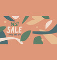 modern online sale poster different shapes in vector image