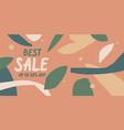 modern online sale poster different shapes vector image