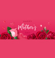 mothers day brochure happy female floral banner vector image vector image