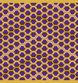 optical seamless pattern purple hexagons vector image vector image