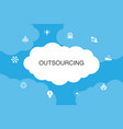 outsourcing infographic cloud design template vector image