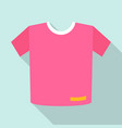 pink tshirt icon flat style vector image vector image