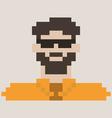 Pixel man vector image vector image