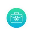 portfolio icon with yuan vector image vector image