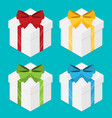 present boxes set with ribbons isometric vector image vector image