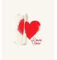 print heart vector image vector image