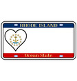 rhode island state license plate vector image vector image