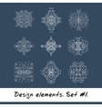 Round design element Circle pattern in white vector image