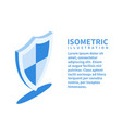 security shield icon isometric template vector image