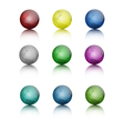 Set of colored globe icons vector image