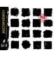 Set of grunge style square shapes elements