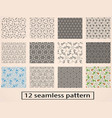 set of seamless decorative pattern stock vector image vector image