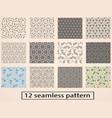 set of seamless decorative pattern stock vector image
