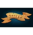 Tavern wooden signboard vector image vector image