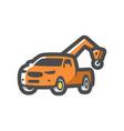 tow wrecker pickup truck icon cartoon vector image