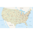 us interstate highway map vector image vector image