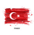watercolor painting flag of turkey vector image vector image