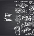 with white fast food hand vector image vector image