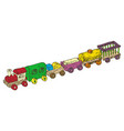 wooden train set vector image