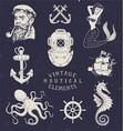 Vintage Hand Drawn Nautical Set
