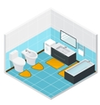 Isometric Bathroom Detailed Interior vector image