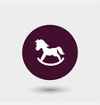 toy pony icon simple vector image
