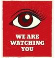 Looking eye poster vector image