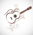Stylized guitar logo vector image