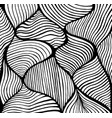 abstract doodle decorative line art coloring page vector image vector image