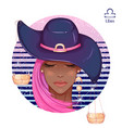 african american girl libra vector image vector image