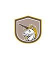 Angry Unicorn Head Cartoon vector image