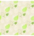 ApplegreenleafBa ckgroundpattern fresh apple vector image vector image