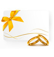 background with wedding rings vector image vector image