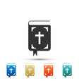 bible book icon isolated holy bible book sign vector image vector image