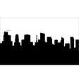 Black city silhouette vector image vector image