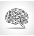 Brain of gears vector image