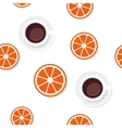 Breakfast food and drinks pattern vector image vector image