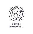 british breakfast line icon outline sign linear vector image vector image