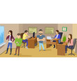 Business character scene Teamwork business office vector image vector image