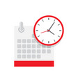 calendar and clock icon schedule vector image vector image