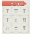coloumn icons set vector image vector image
