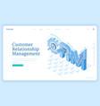 customer relationship management banner vector image