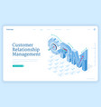 customer relationship management banner vector image vector image