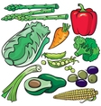 Diet products icon set vector image vector image