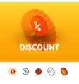 Discount icon in different style vector image vector image