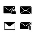 email envelope mail simple related icons vector image vector image