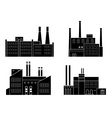factory silhouette set vector image vector image